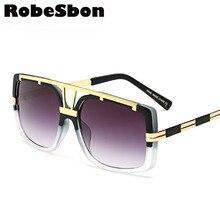 2017 New Fashion Men Square Sunglasses Women High Quality Gradient Retro Sun Glasses for Men Oculos De sol Female RBworld