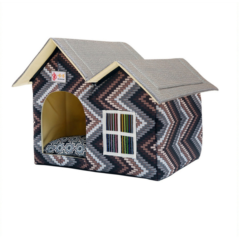 Actionclub Dog House New 2017 PP Cotton Folding Dog Bed For Large Dog House With Mat Pets Product Cats House 2017 New Style