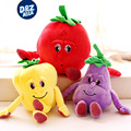 Cute cartoon fruit and vegetable pear dolls tomato eggplant Knuffel plush toys onion garlic early education doll baby