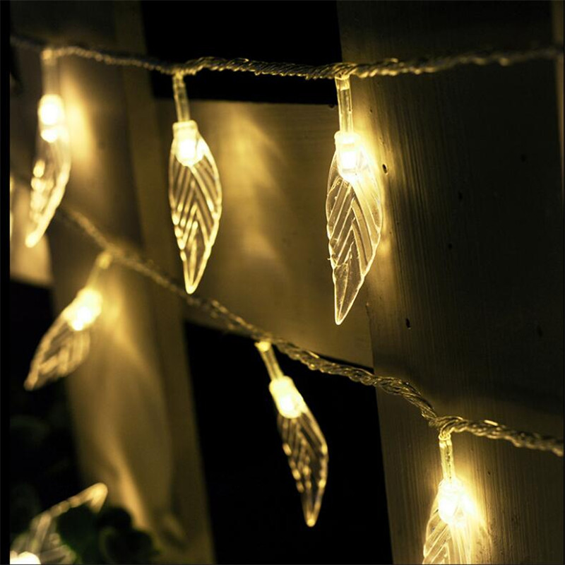 10M 50 Led String Lights Hard Leaves Fairy Decorative Lights Xmas Wedding party Christmas Garland Curtain Decoration Home decor 1 5x1 5 rgb led string christmas fairy lights luces decorativas led para fiestas curtain valance home wedding decoration garland