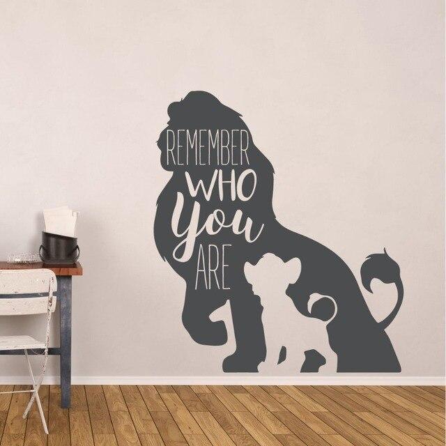 Lion King Wall Sticker Simba And Mufasa Vinyl Wall Decal Kids Room