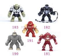 5pcs Big juggernaut Venom Lazy Rhino VS Hulk Buster Green Goblin Figures Toys Marvel Building Blocks Action Figures Bricks Toys