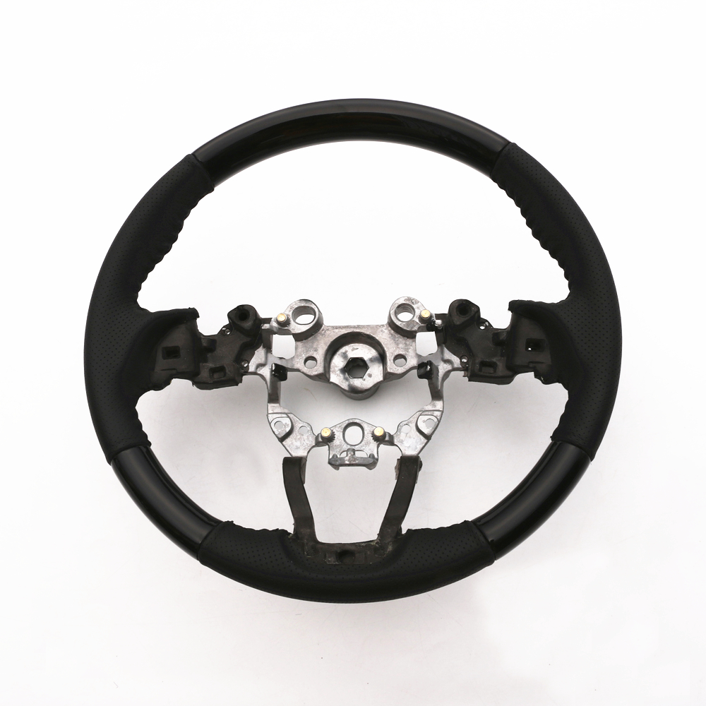 JY Black Wooden+Leather Steering Wheel Car Styling Accessories For MAZDA CX 5 KF 2017 2018