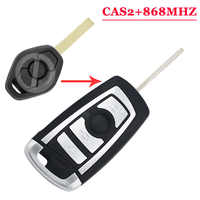 (1pcs) 868MHZ flip remote key fob for Bmw CAS2 HU92 UNCUT KEY