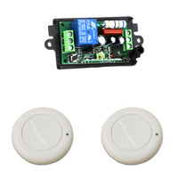 110V/220V Wireless Switch Remote Light Switch System 10A 1CH Wireless Relay Remote Switch For Light / Gate/ Door 315/433Mhz