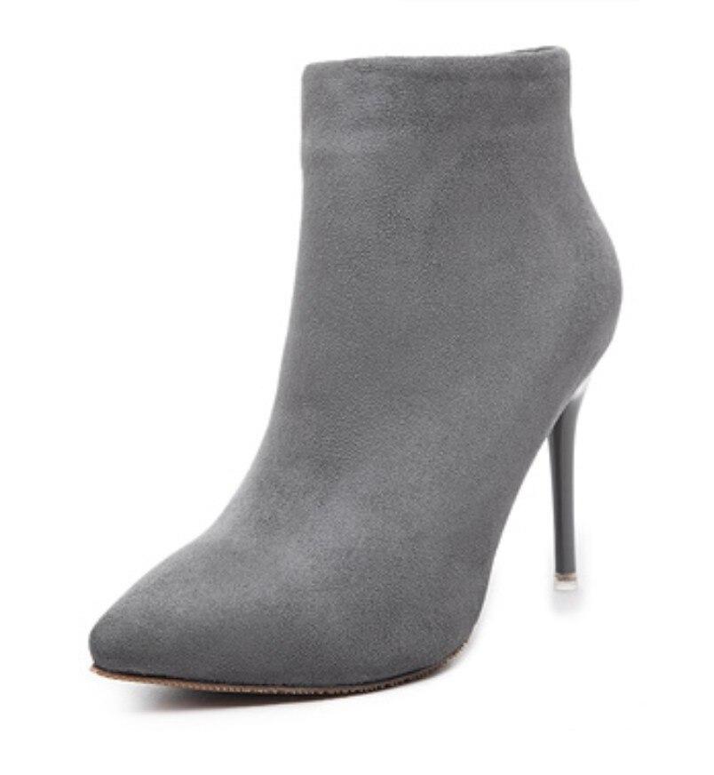 35 40 sapato feminino botas mujer gray pink black blue orange purple women plain concise ankle