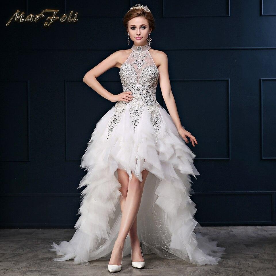 Actual Photos High Low Sexy Wedding Dress Vestidos De