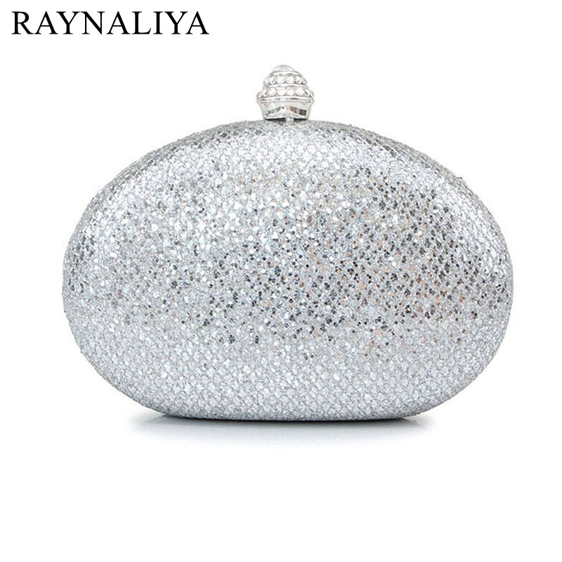 2017 Promotion Minaudiere Women Fashion Hot Sales Sequins Evening Clutch Bags Sliver Diamond Wedding Dinner Luxury Smycy-e0057 promotion women