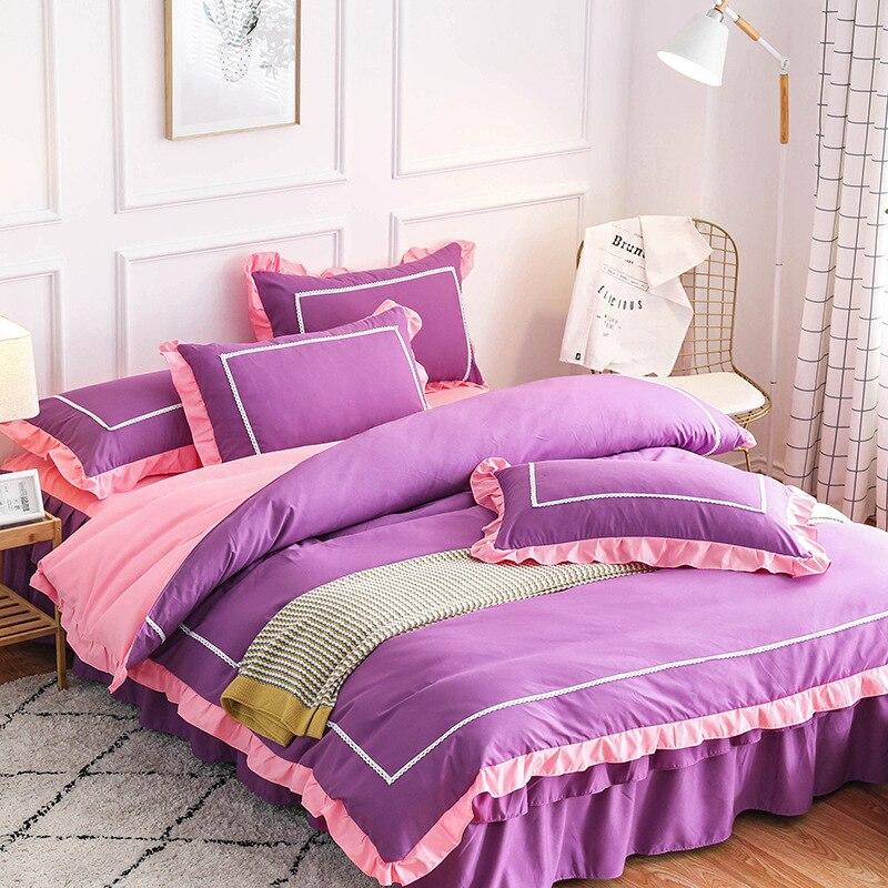 klonca new design bedding set cotton A/B sides 4 piece bed set summer duvet cover set countryside style comforter bedding sets