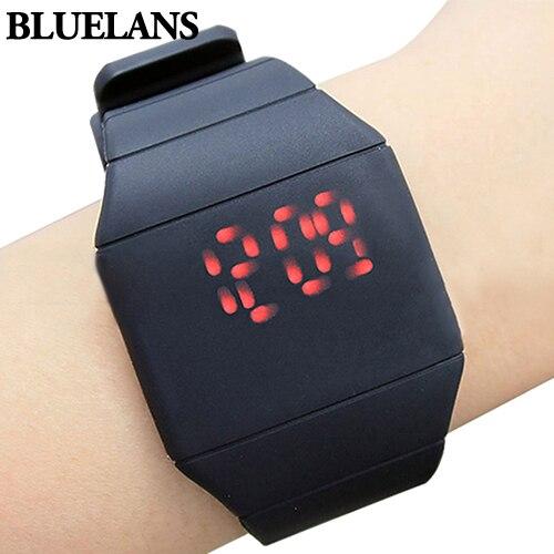 Moda Mens Lady Mulheres Toque Digital Red Led Silicone Sports Relógio de Pulso Banda de Silicone novidade para Presente 0KB1