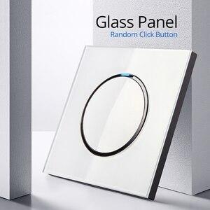 Image 4 - 1 Gang 2 Way z ue niemieckie gniazdo Wallpad luksusowe kryształ szkło hartowane Panel elektryczny ścienne gniazdo zasilające