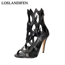 2018 New Arrive Women Sandals Fashion Peep Toe Summer Shoes Big Size 34-46 Hollow Out Simple Buckle High Heel Shoes TL-A0030 memunia new women sandals sexy thin heel summer shoes simple pu buckle fashion shoes big size 33 47 red party wedding shoes