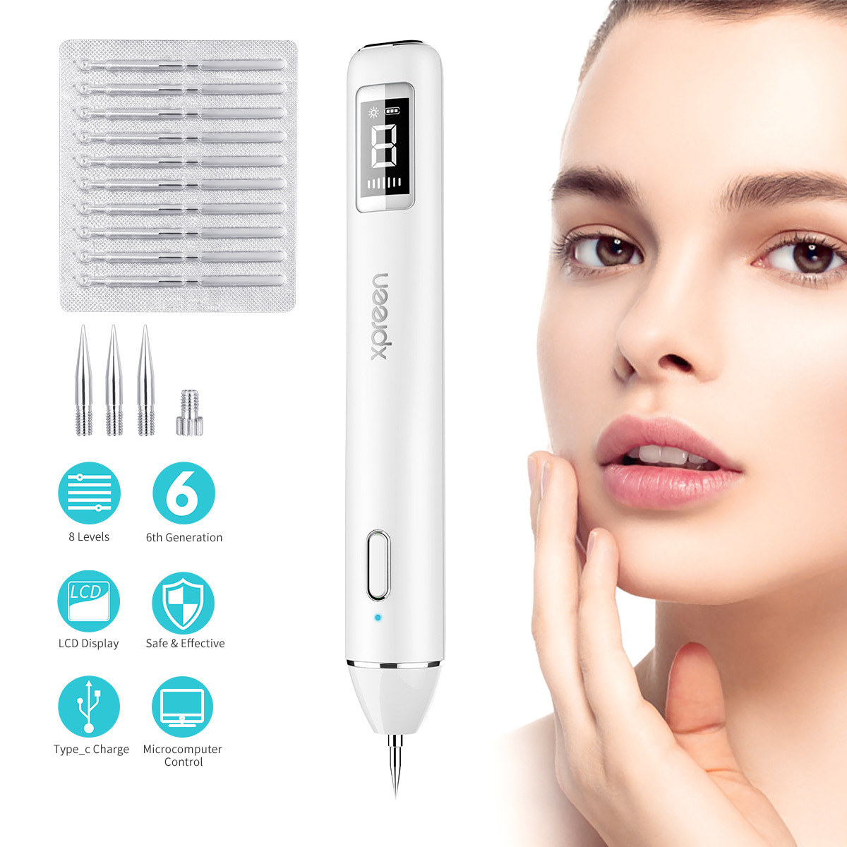 Plasma Pen LCD Laser Plasma Pen machine Mole Tattoo Remover Machine Skin Tag Removal Spot Cleaner-in Face Skin Care Tools from Beauty & Health