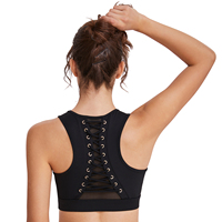 Zhuohe Sports bra Push Up High Support Yoga Athletic Bras MultiStrap Women Fitness Top Gym Workout Training Pilates Dropshipping
