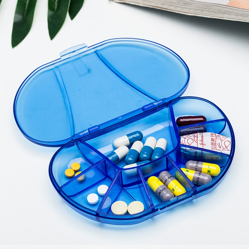 Portable Medicine Storage Case Health Care Pill Box Vitamin 8 Grid  Medical Organizer Drug Holder Medical kit Container Travel