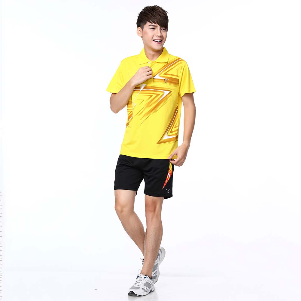 Adsmoney Polyester breathable badminton shirt + shorts ,Women /Men table tennis Suit team game short sleeve T Shirts with Skirts