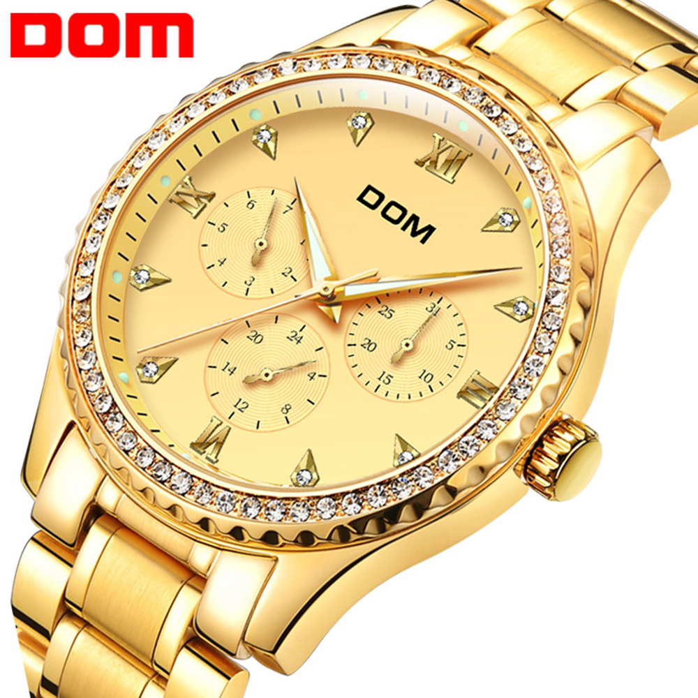 DOM Men's Watches Military Luxury Brand Watch Mens Quartz Stainless Steel Clock Fashion Waterproof Watch Man Relogio Masculino