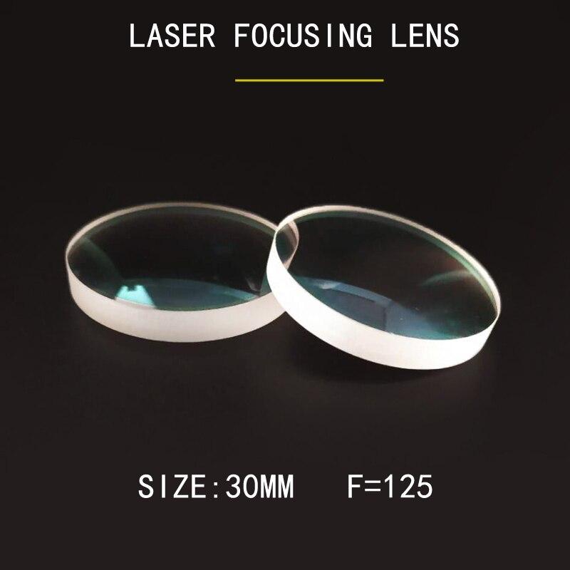Weimeng fibre Laser coupe lentille de mise au point 10 pièces/sac 30mm F = 125 lentilles laser JGS1 QUARTZ 1064nm forme AR plano-convexe