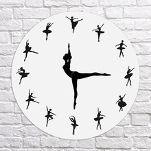 Ballerina Record Wall Clock Ballet Dancing Dancer Home Decor Xmas Gift L66