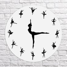 Ballerina Record Wall Clock Ballet Dancing Wall Clock Dancer Home Decor Xmas Gift L66 стоимость