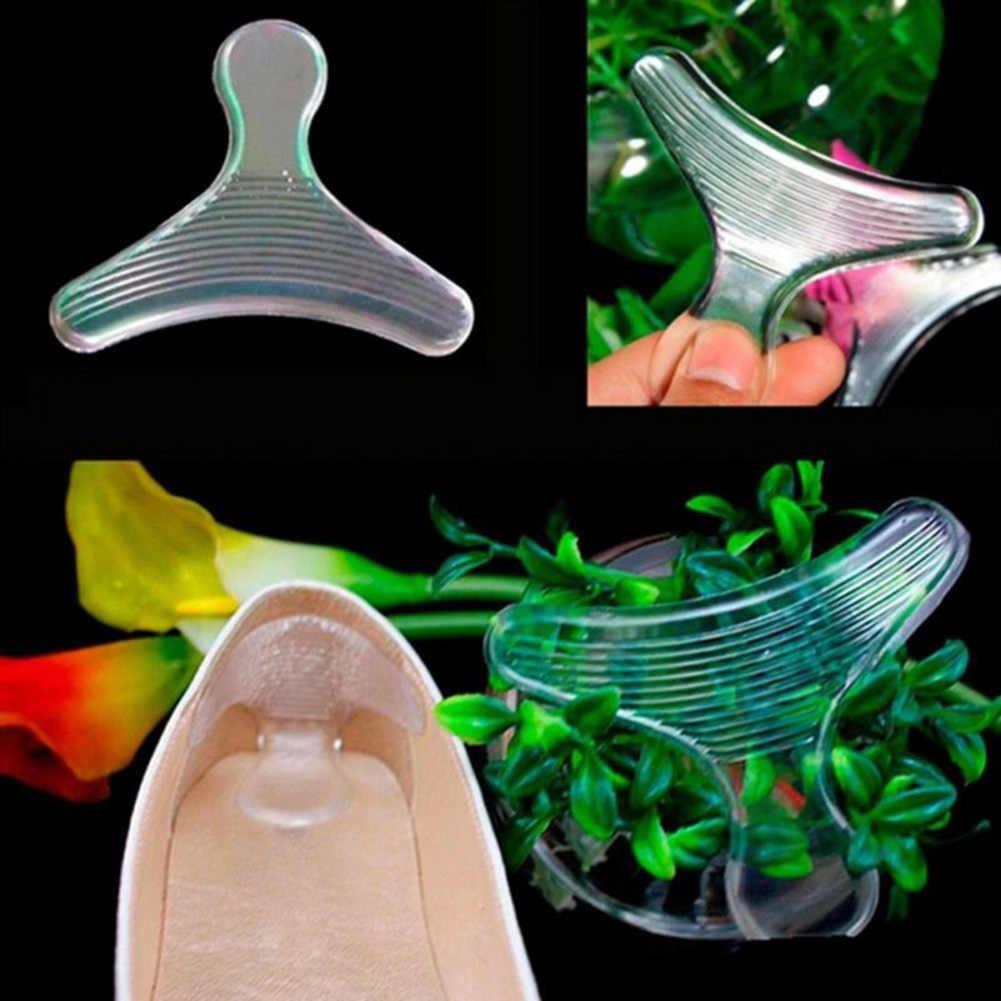Sapatos de Salto alto Sapato Aperto Protector Cushion Heel Inserção Palmilhas Almofada de Gel de Cuidados Com Os Pés Palmilhas de Gel de Silicone