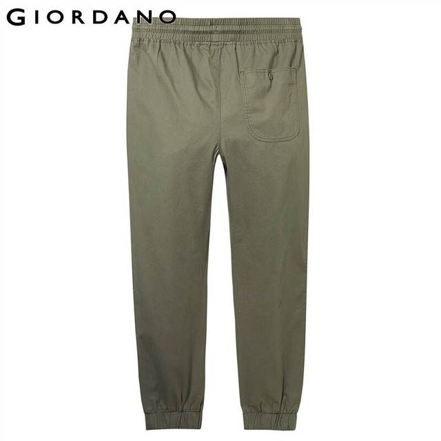 Giordano Men Pants Elastic Waistband Casual Pants Men Solid Twill Joggers Banded Cuffs Mens Trousers Pantalones Hombre 45