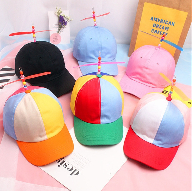 2019 Helicopter Propeller Baseball Caps Colorful Patchwork Cap Hat Sun Hat Children Boys Girls Snapback Dad Hat