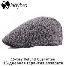 Ladybro Retro Autumn Winter Hat Men 30% Wool Berets Hat Women Visor Cap Lady Adjustable Casual Baseball Cap Female Bone Male