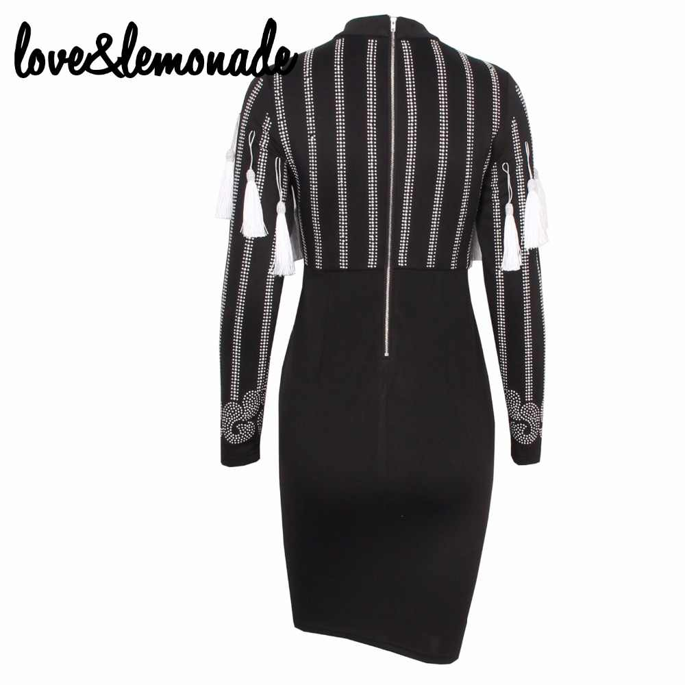 Love&Lemonade  Silver Metal Tassel Party Dress TB 9729