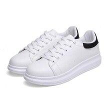 Мужчины и Женщины Скейтбординг Обувь Круглого Toe Платформы Кроссовки Дышащий Спортивная Обувь Чистый Белый Размер: 35-44(China (Mainland))
