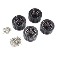 4PCS 1.9 Inch Crawler Alloy Rim Beadlock for 1:10 RC Rock Crawler Car Axial SCX10 RC4WD TAMIYA CC01 RC Truck Wheel Hub