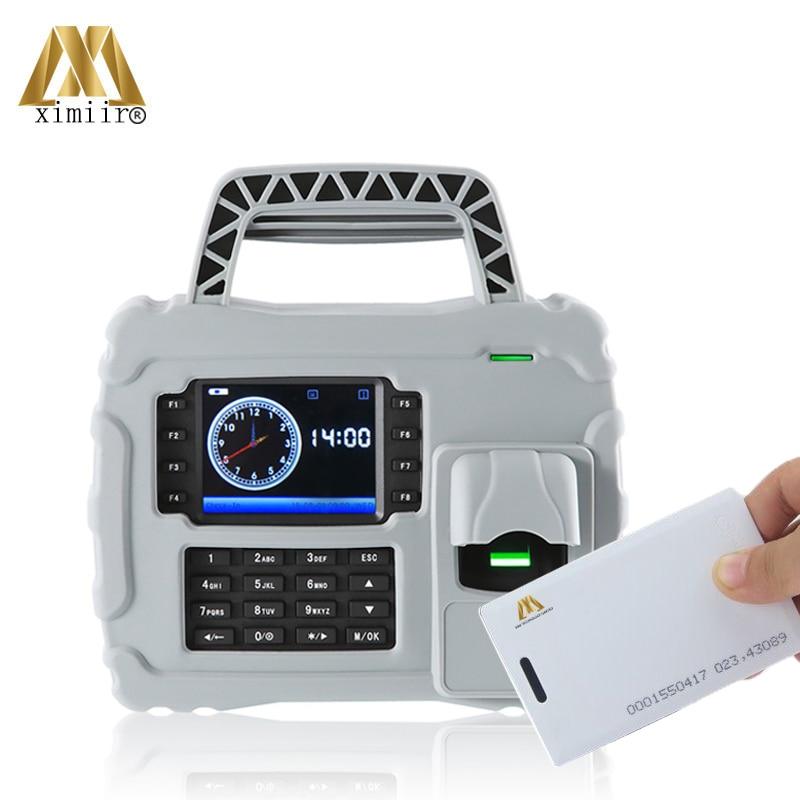 Free Software Waterproof 125KHz Card Reader S922 Built-in Battery Fingerprint Time Attendance System Attendance Recorder