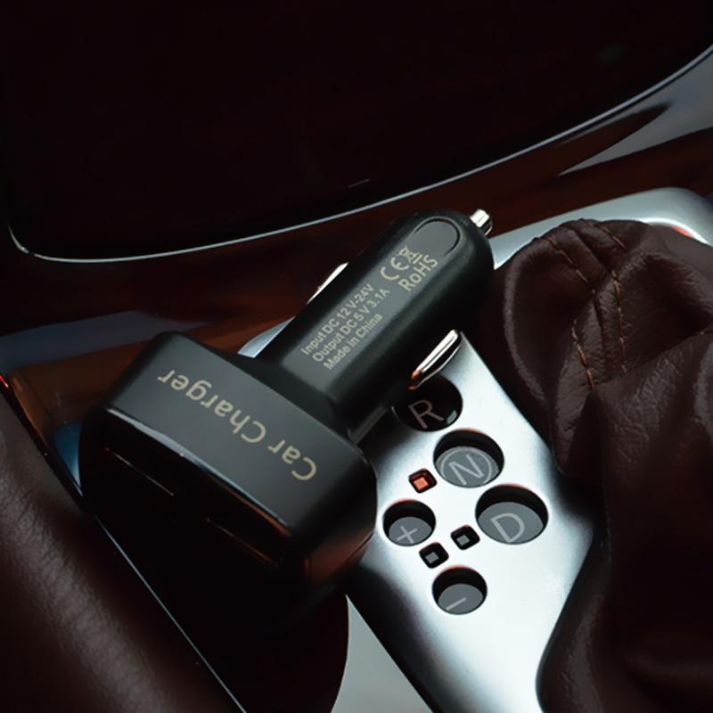 Dual USB autós töltő adapter voltmérő ampermérő teszter - Autóalkatrész - Fénykép 2