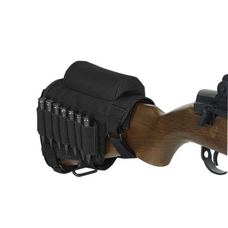 High Quality Comfortable Tactical Butt Stock Rifle Cheek Rest Pouch Bullet Holder Bag Outdoor Sports Hunting Accessories Special Summer Sale