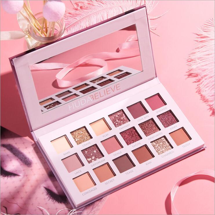 18 Color Nude Shining Eyeshadow Palette Makeup Glitter Pigment Smoky Eye Shadow Pallete Waterproof Cosmetics