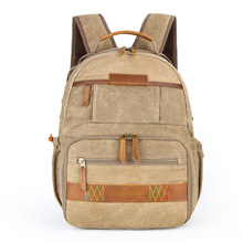 Retro Batik Canvas Waterproof Photo Backpack Durable Photographer Padded Camera Bag for Canon Nikon Sony DSLR Camera Lens Flash