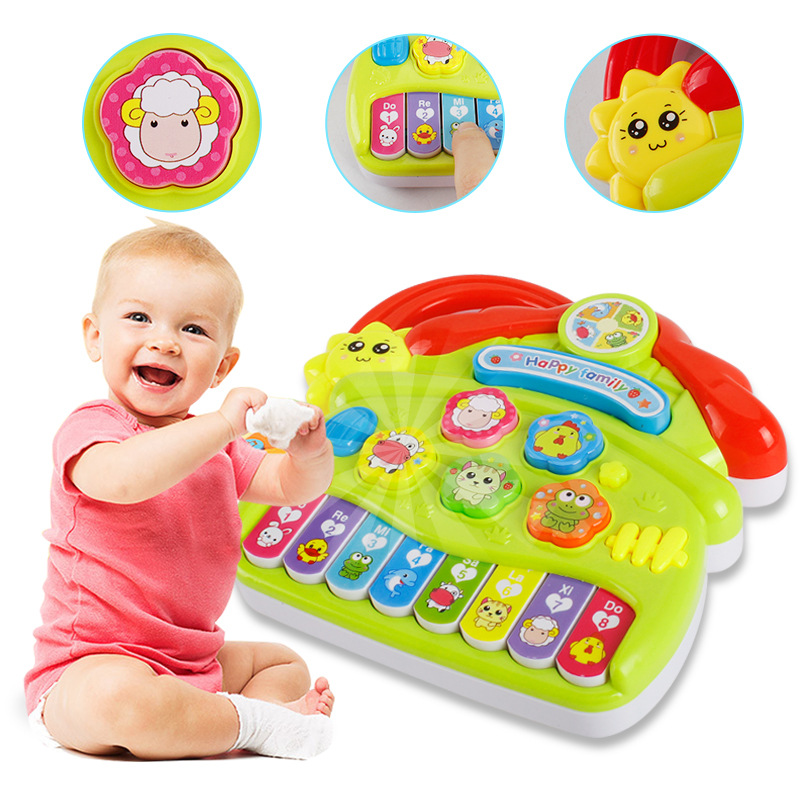 New Popular Musical Instrument piano Toy Baby Kids Animal Farm Piano Developmental Music Toys for Children