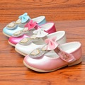 New Baby Girl's Shoes PU leather Flowers Love Shape Shoes Toddler Girls Shoes