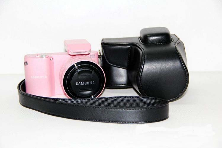 New Pu Leather Camera Case Video Bag For Samsung NX1000 Camera Bag With Strap Black
