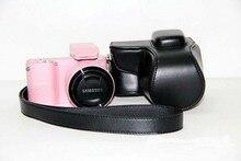 Новый pu кожаный чехол камеры видео сумка для samsung nx1000 камеры сумка с ремешком черный