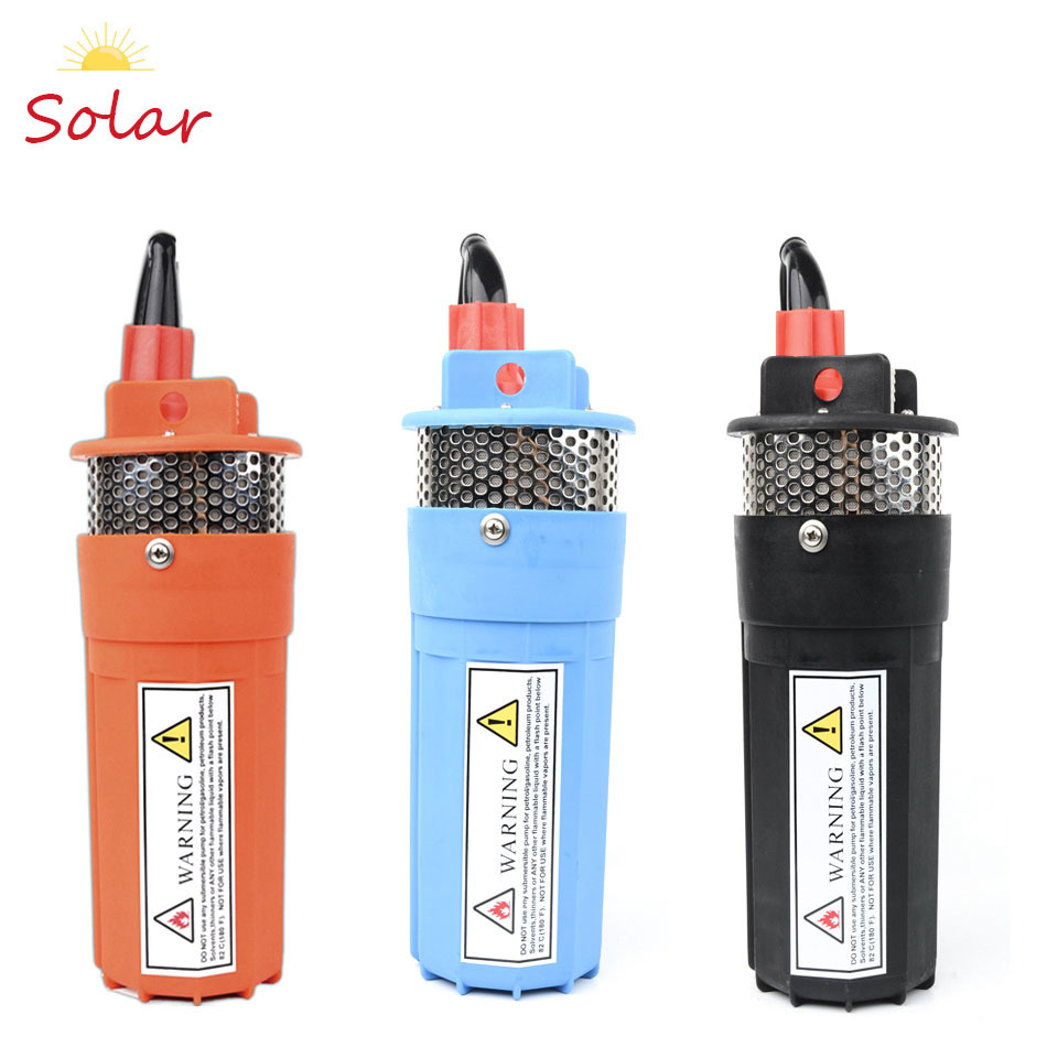 DC 12V 24V Mini Solar Power Water Pump 70 Meter Lift Diaphragm Vertical Submersible Outdoor Garden