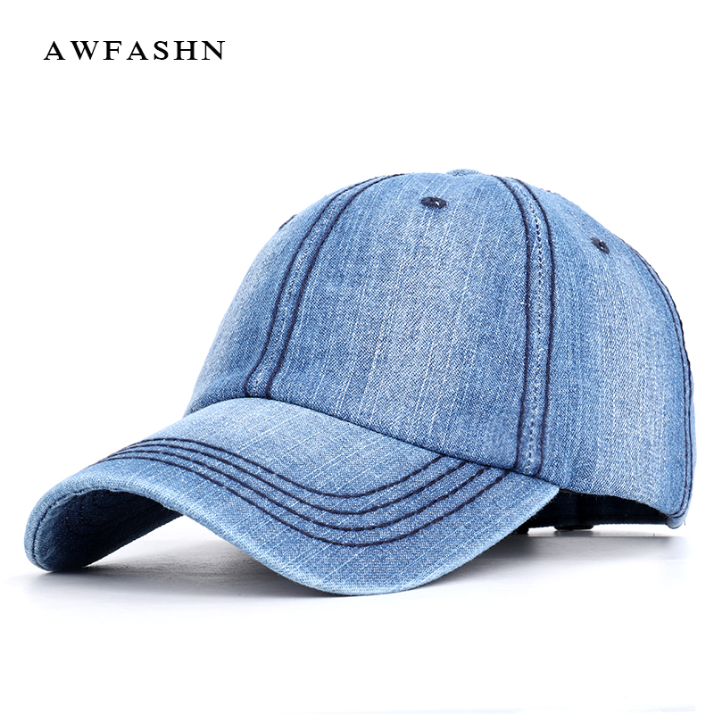 2019 New High Quality Vintage Denim   Baseball     Cap   Fashion Trend Hip Hop Hat Spring Man Woman Sports Adjustable Solid Trucker Bone