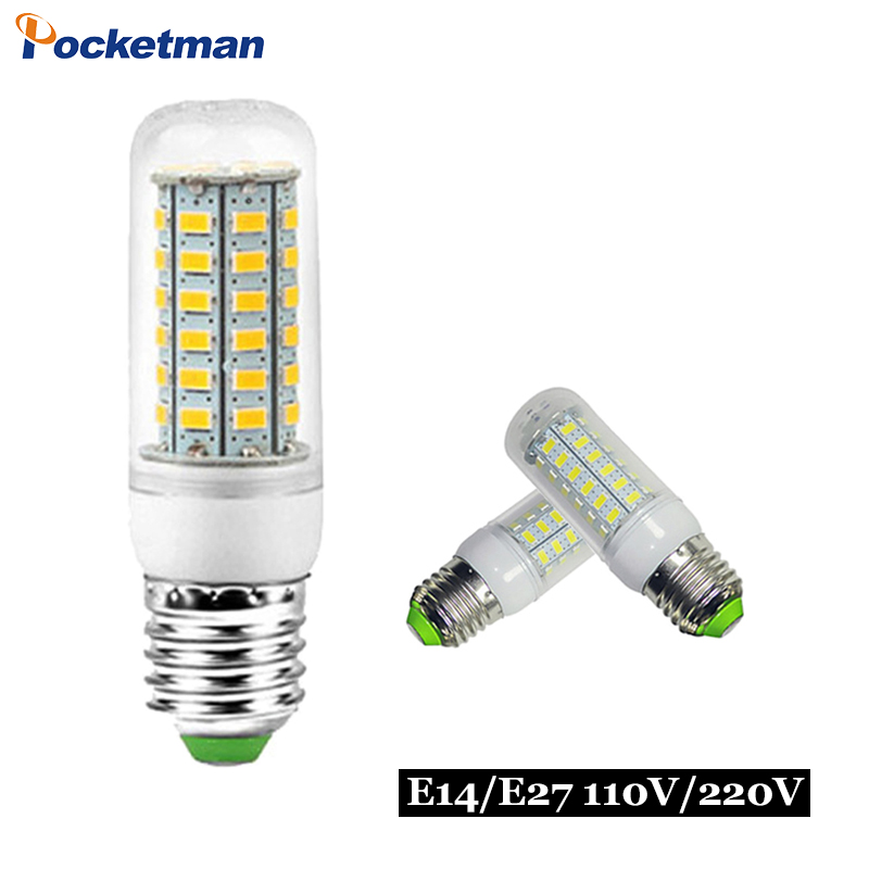 Gu10 Led Lamp E27 Led Bulb 220v Lampada Led E14 Candle Light Smd 5730 Corn Bulb For Chandelier Lighting 24 36 48 56 69 72leds Lights & Lighting