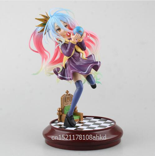 Anime Life No Game No Life 2 Shiro Game of Life Painted second generation Game of Life 1/7 scale PVC action figure model 15cm anime life no game no life shiro game of life 1 7 scale pvc action figure model toys