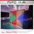 2 mt * 2 5 mt led vorhang bildschirm vision führte kulisse P8cm led vorhang videoanzeige dj kabine KTV bar hochzeit dinge für zeigen-in Bühnen-Lichteffekt aus Licht & Beleuchtung bei