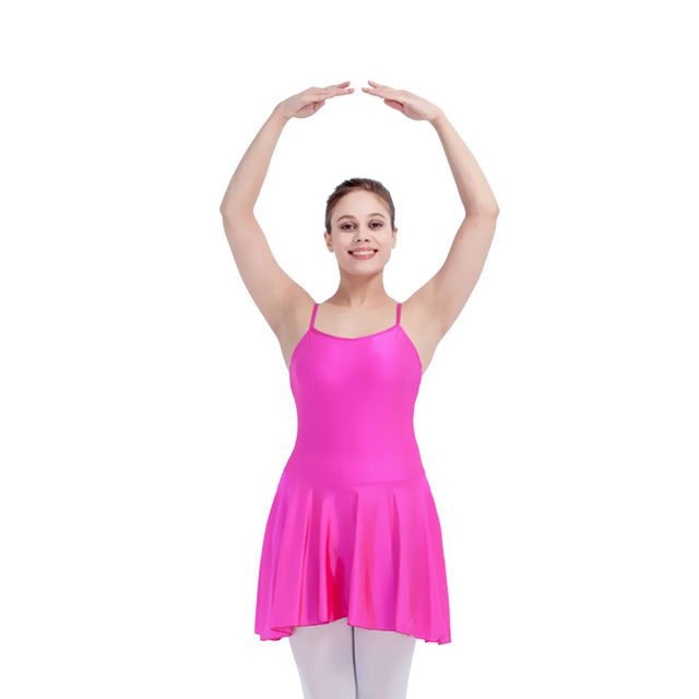 Retail Violet,Black Nylon/Lycra Camisole Dance Leotard with Asymmetrical Skirts for Ladies and Girls