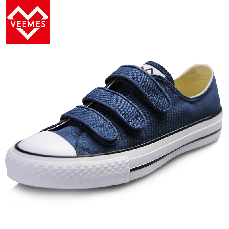 VEEMES brand Classic Velcro canvas shoes espadrilles women flats men  valentine shoes Solid canvas espadrilles White Black Red-in Men s Casual  Shoes from ... 4738a8916