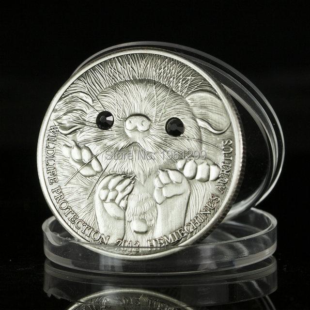 500 Togrog Mongolia Coins2012 LONG EARED HEDGEHOG Wildlife Protection  Silver Coin 2pcs. df29060f6e28