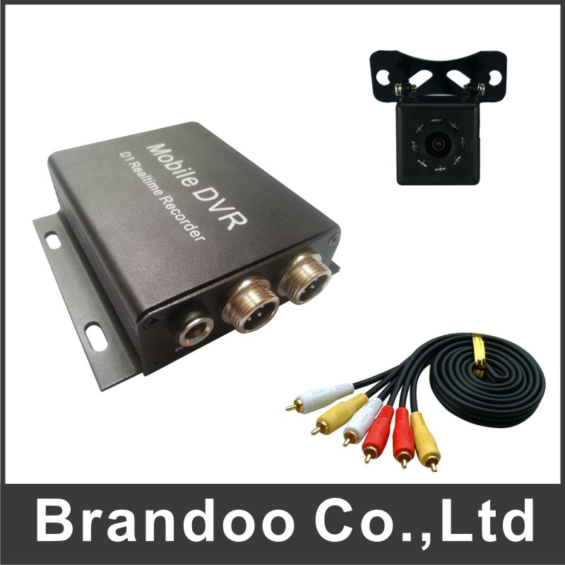 Promotion sales 1CH TAXI DVR KIT, including 2 set of car dvr,car camera, video cable, 64GB auto recording DVR kit manufacturer of spot sales promotion