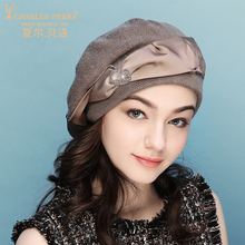 Charles Perra Brand Women Hat Autumn New Beret Korean Version Fashion Elegant Lady Wool Cap Keep Warm Knitted Hats Beanies 5633